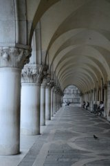 arches outside the Doge's Palace