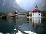 church on lake in Austria