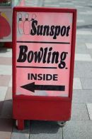 Sunspot Bowling Sign