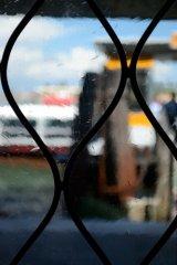 view through glass door