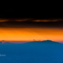 Sunset over Fair Isle