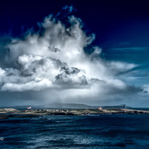 Dramatic sky over Bressay