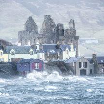 Storm Gertrude hits Scalloway