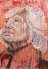 """Remember Me - Hidden Child of The Holocaust"" Oil on Linen, 100 x 100 cm"