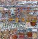 'Downtown Bar, midnight' (mixed media on board) 2010 61cm x 61cm