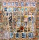 'Between 7th and 8th' (mixed media on board) 2010 61cm x 61cm