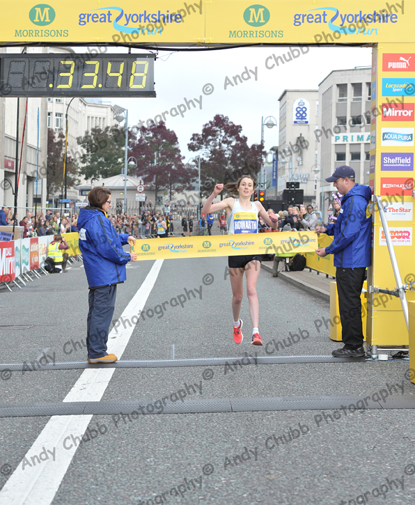 Lauren Howarth crosses the line