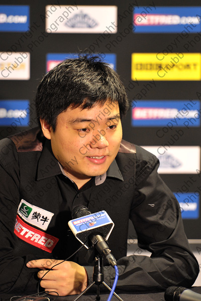 Ding Junhui, Press Conference