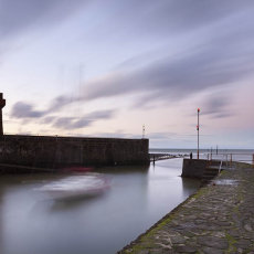 Dusk Lynmouth Harbour