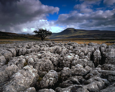 Ingleborough from Twistleton Scars, Yorkshire Dales