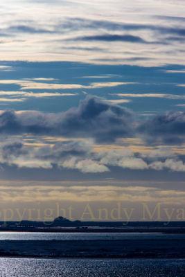 Cloud Formations Midnight Antarctica