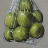 Granny Smith Apples in a Plastic Bag