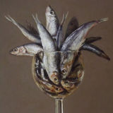 sprats in a wine glass