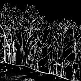 Print of drawing Edale Derbyshire