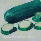 Green Courgettes painting