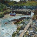 low tide, boscastle