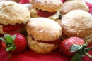 Scones With Fresh Strawberries