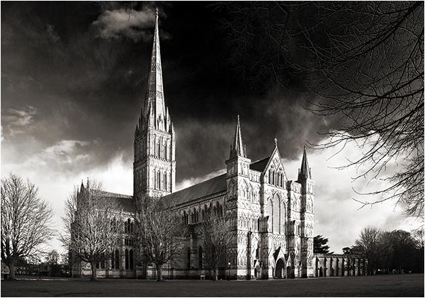 Last Light on Salisbury Cathedral.