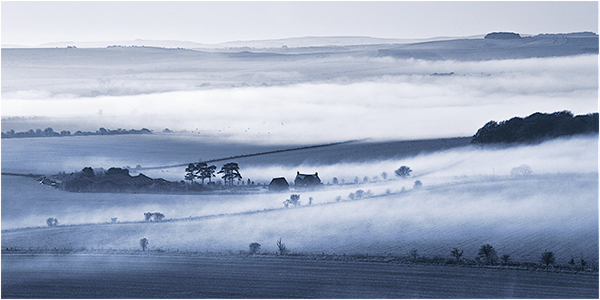 Mist over the Marlborough Downs