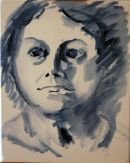 Ebauche/lay-in stage of Alfreda McHale Portrait I