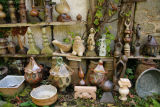 rustic garden pottery brittany france