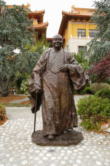 statue of zen master Hsing Yun