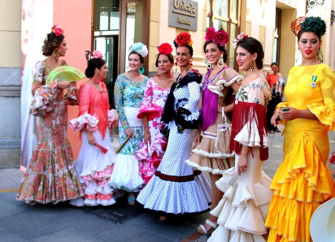 Ronda Ladies in Traditional Dress