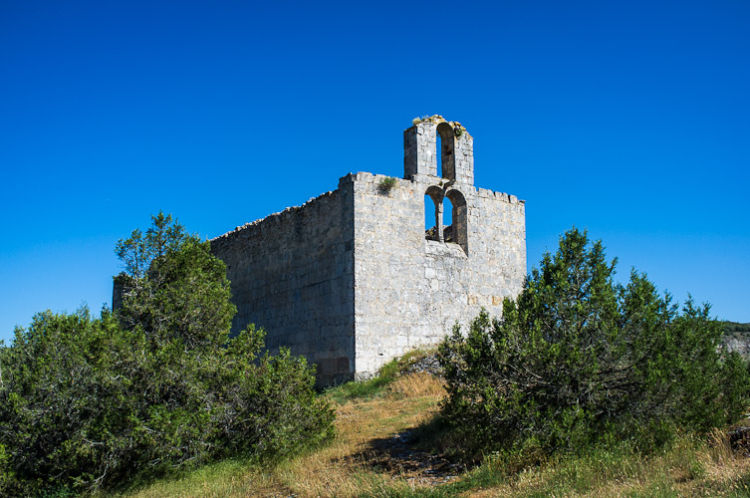 Church Ruine on a hill