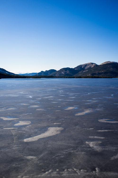 Ice on Nisser Lake