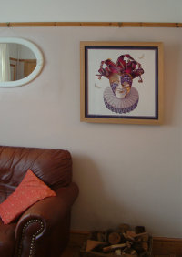 Venetian Mask and the Ghost Moth. (Framed)