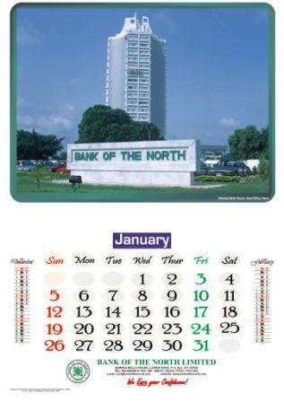 Bank of North Calendar