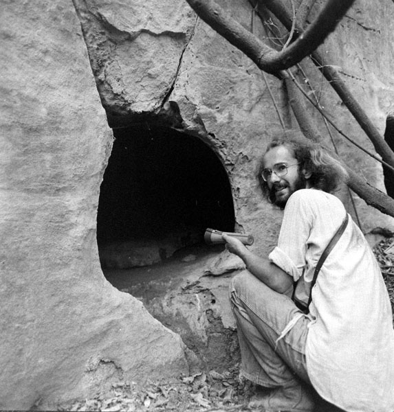 Humphrey Crick at Marshalls Caves 1980, not long after they were discovered