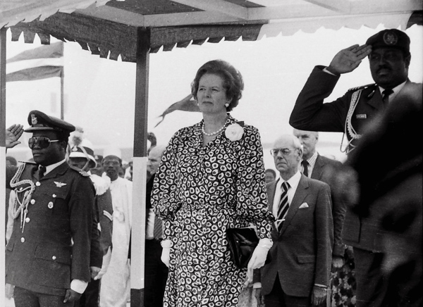 Mrs. Thatcher reviews the Troops, Kano 1988