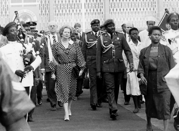 Margaret Thatcher at State House, Kano