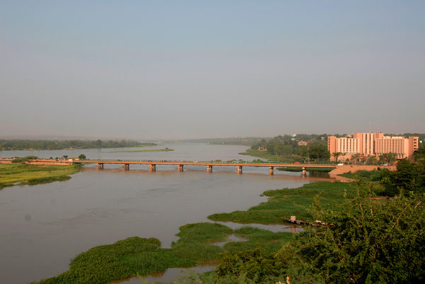Bridge over the Niger River at Niamey