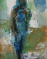 Standing figure I - Mixed media - 29 x 23cms