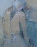 Figure V - Framed 27 x 22cm Mixed media