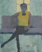 Seated Figure I, - Oil -11 x 13 ins Framed