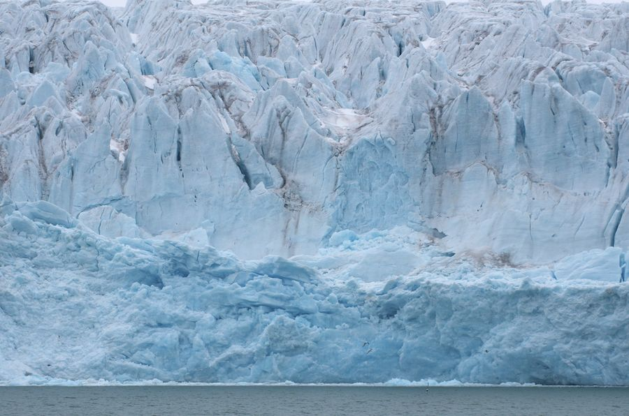 Glacier near Polar Circle, Svalbard, Norway