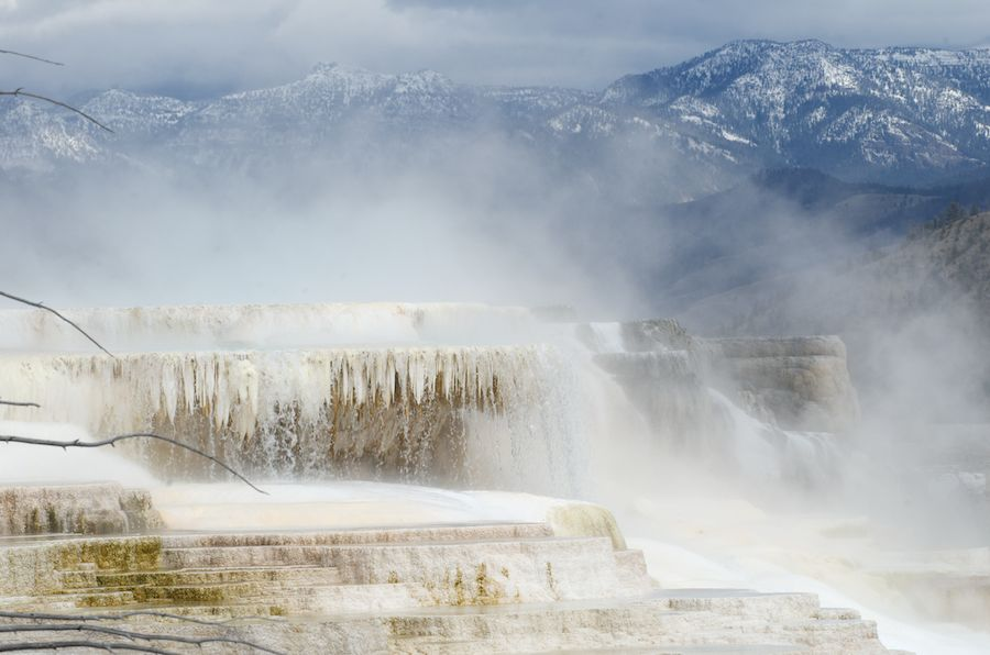 Mammoth Hot Springs, Yellowstone, USA