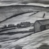 D10 Above Smarber 2005 charcoal 73x55cm £450