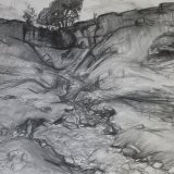 D1 Smarber Scar 2005 charcoal 84x59cm SOLD