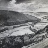 D9 Evening Light Upper Swaledale 2006 charcoal 73x55cm £450