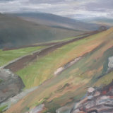 O21 Towards Shunner Fell 2011 oil on board 41x30cm SOLD