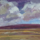 O29 Rising Clouds 2014 oil on board 41x36cm SOLD