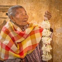 Temple Flower Seller Bagan