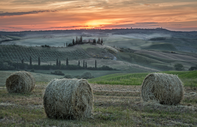Dawn over Val d'Orcia Tuscany 1