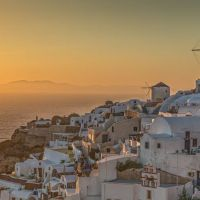Oia-Windmill-Sunset