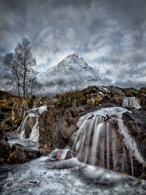 Storm clouds over Buachaille, Glen Etive