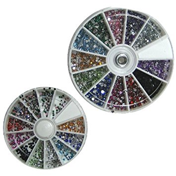 Multi Coloured Nail Art Rhinestone Wheel €6